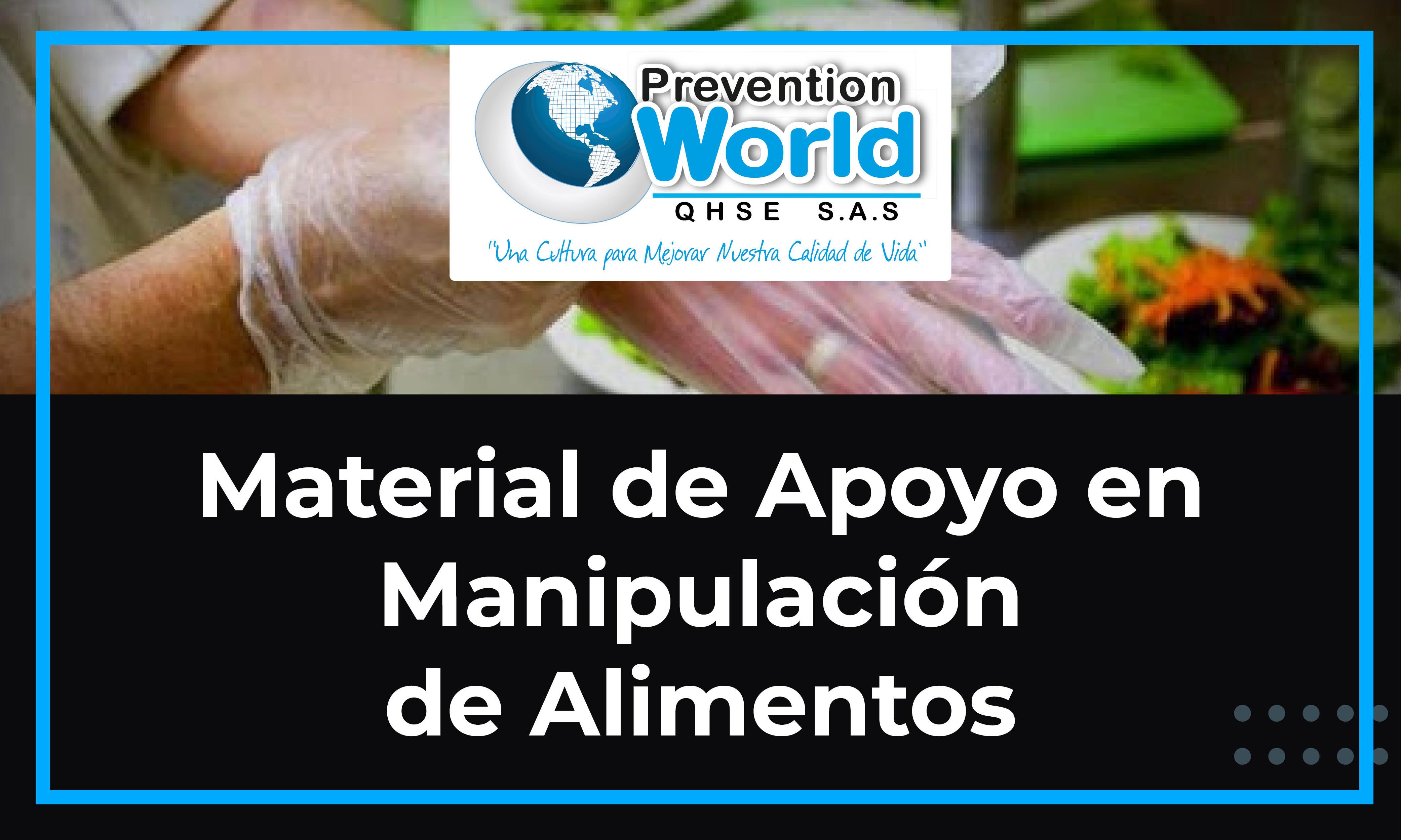 Material de Apoyo en Manipulación de Alimentos